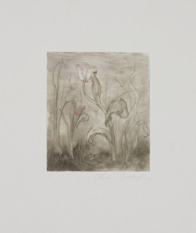 Morning, 2010, Painted monotype printed from a steel matrix, Image size: 6 1/8 x 5 1/4 inches