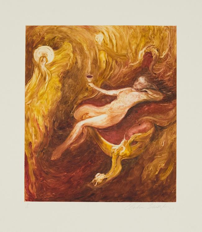 Molten Gold, 2010, Monotype