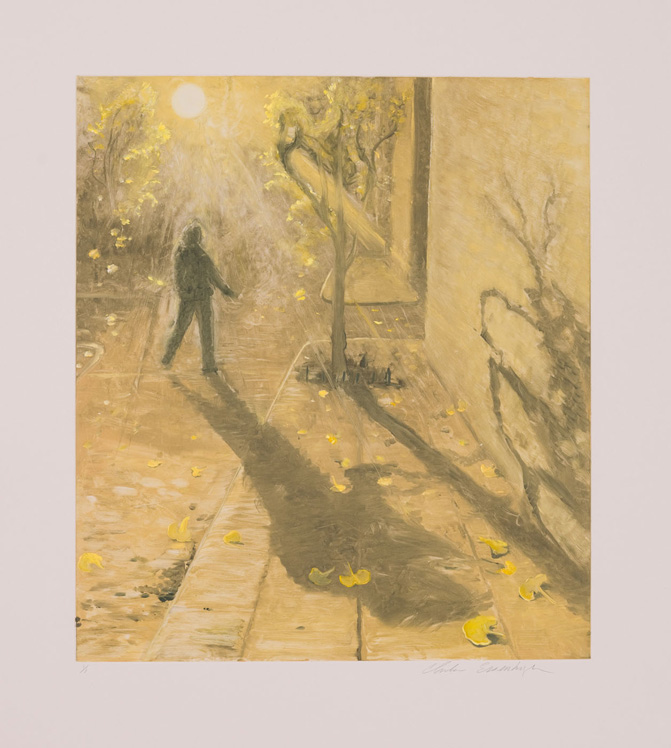 Sunshine, 2010, Painted monotype printed from a steel matrix, Image size: 17 3/4 x 15 3/4 inches