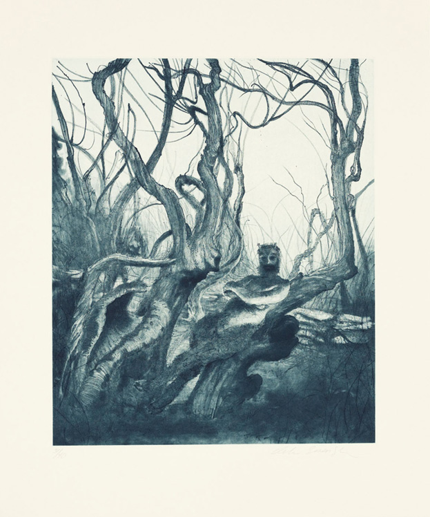 Pan, 2010, Aquatint and soft-ground etching with drypoint, Image size : 15 x 12 1/2 inches