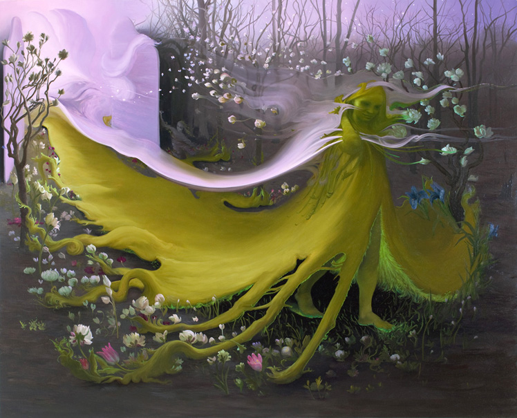 Green Goddess II, 2009, oil on canvas, 72 x 60 inches