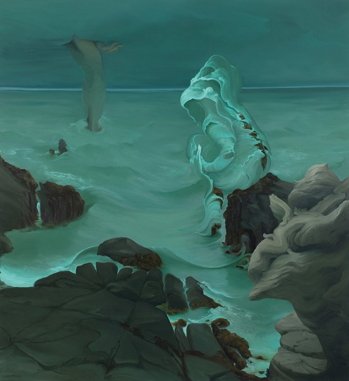 Minor Sea Gods of Maine, 2009, oil on canvas, 74 x 68 inches
