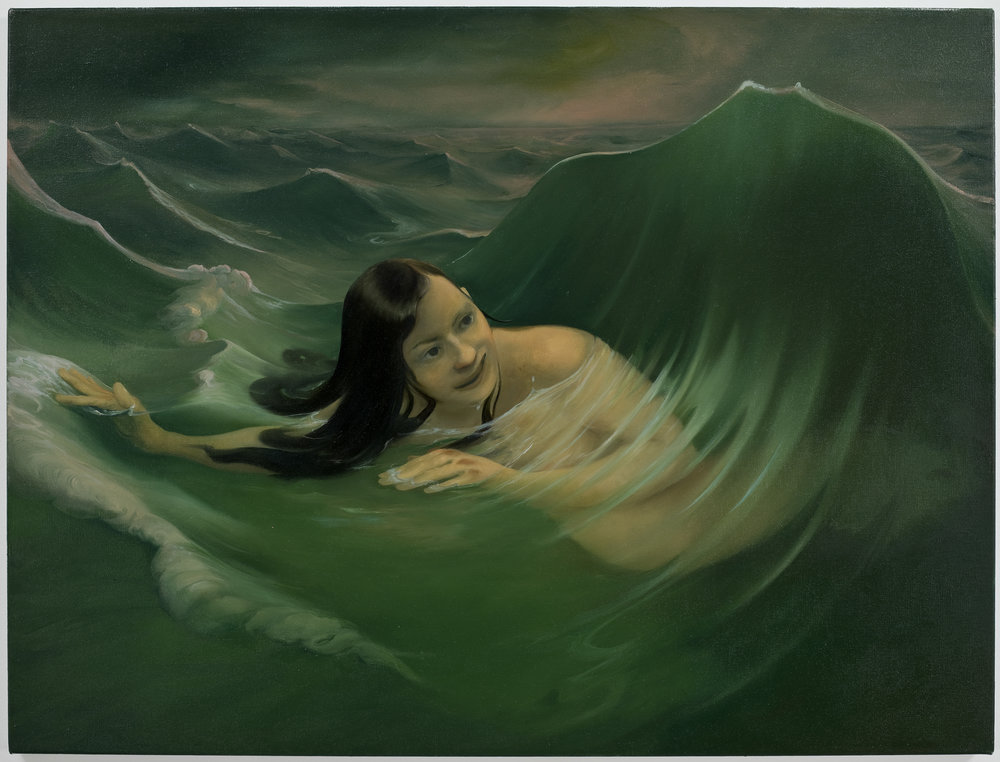 The Nereid Doto, after Thomas Sully 1836, 2009, Oil on canvas 29.5 x 40.5 IN