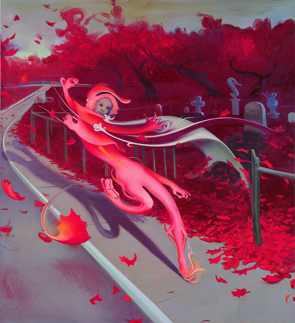 Fall (Red), 2007, oil on canvas
