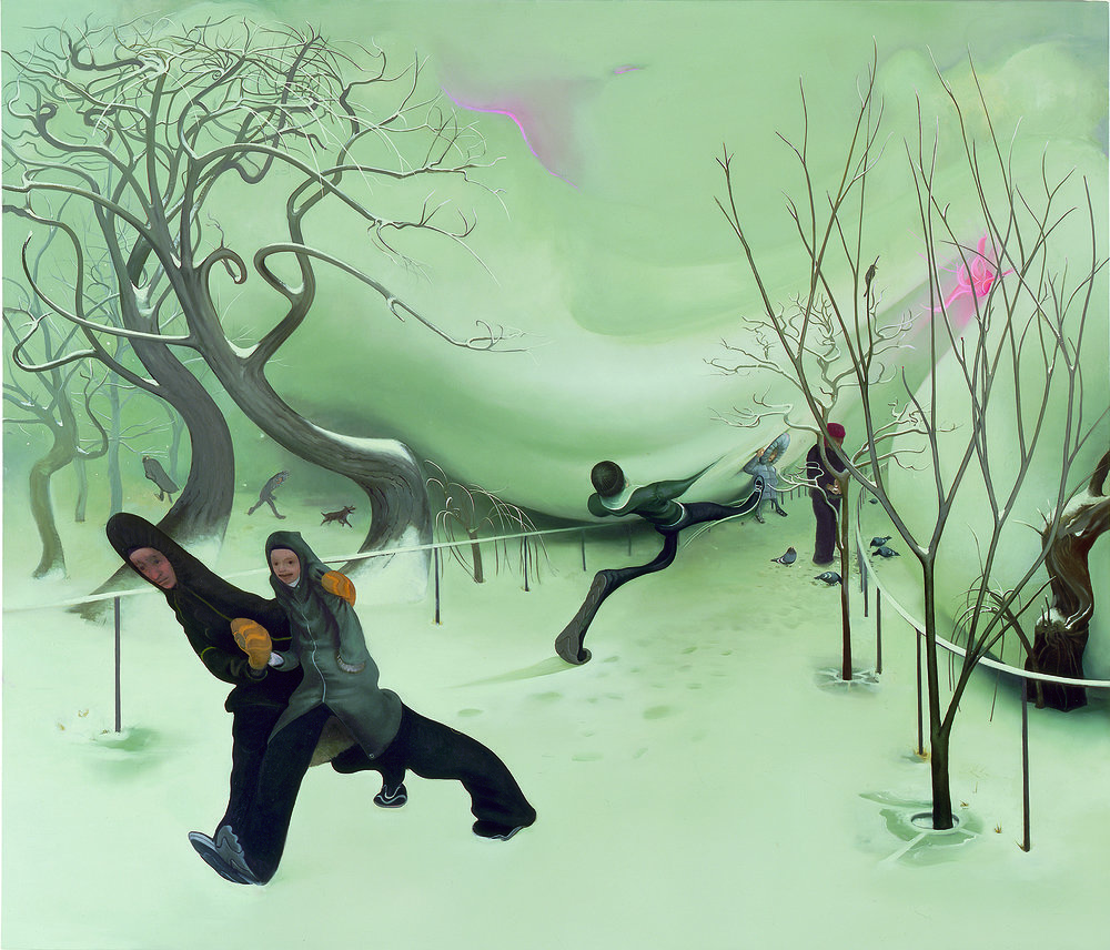 Snow, 2007, oil on canvas, 72 x 62 inches