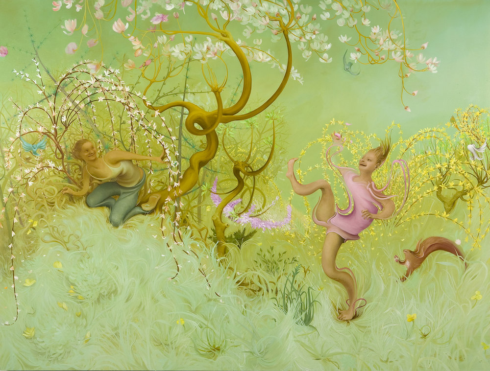 Spring, 2007, oil on canvas, 68 x 90 inches