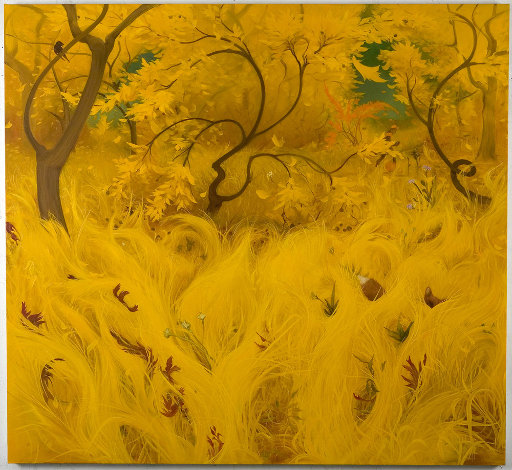 Yellow Fall, 2007, oil on canvas, 68 x 74 inches