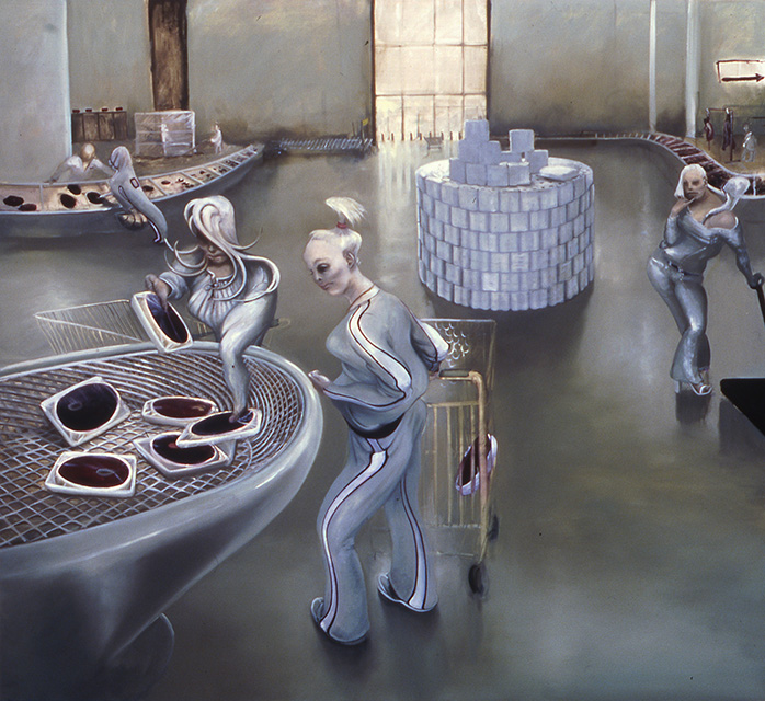 Shopping, 2005, oil on linen, 70 x 76 inches