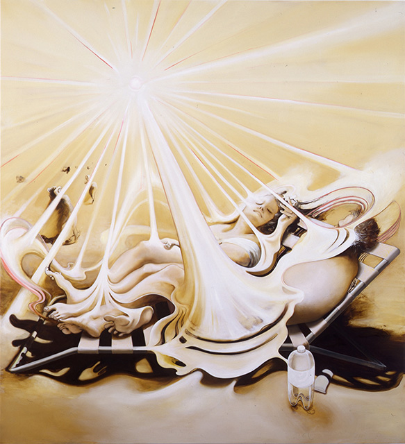 Sunshine,2004, oil on canvas, 76 x 70 inches