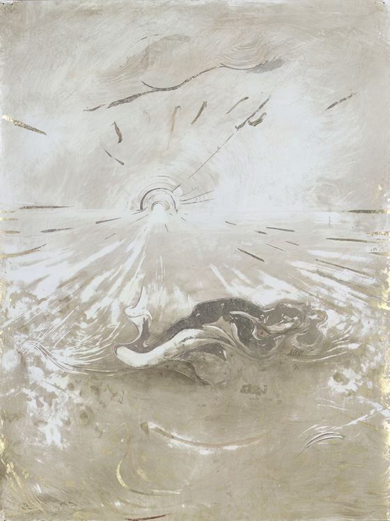 Dream Sleep, 2004, Oil on paper, 24 x 18 inches