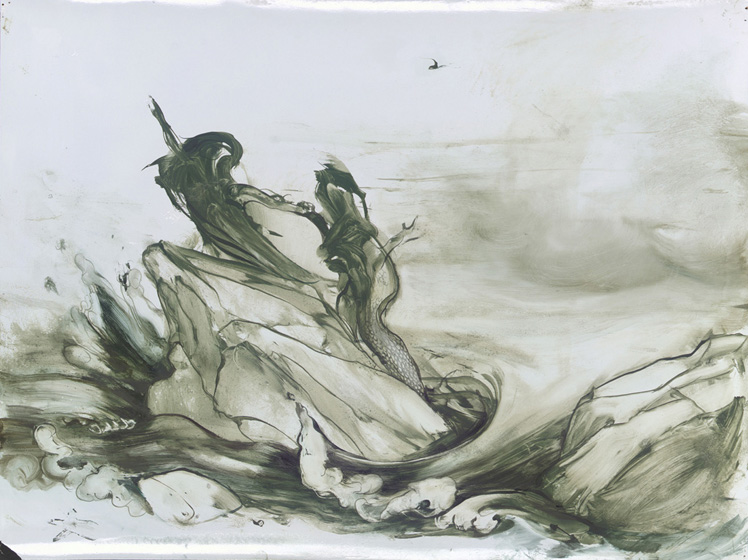 They Came from the Sea, 2004, Oil on paper, 18 x 24 inches