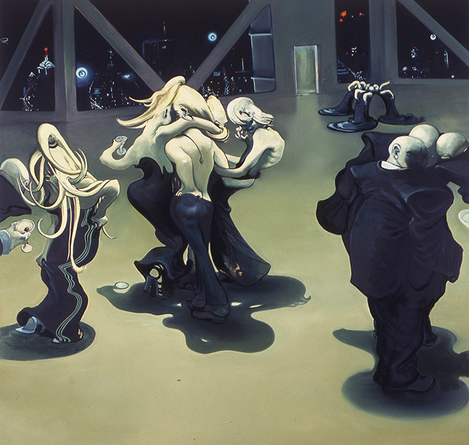 Power Party, 2003, oil on canvas, 76 x 80 inches