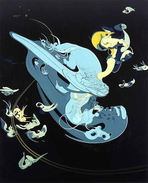 Pegasus, 2001, Oil on canvas, 105 x 86 inches