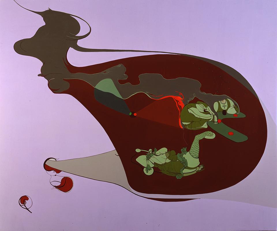 5 A.M., 2000, Enamel on canvas, 70 x 84 inches