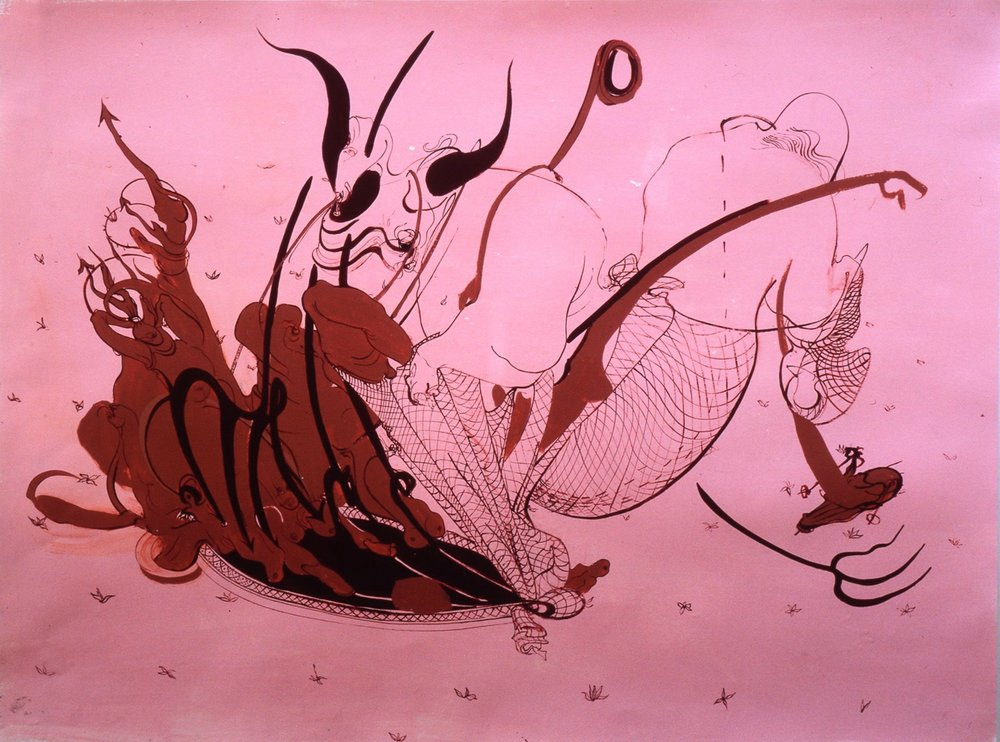 Untitled (pink), 2000, oil on paper, 22 x 29 INUntitled (pink), 2000, oil on paper, 22 x 29 IN
