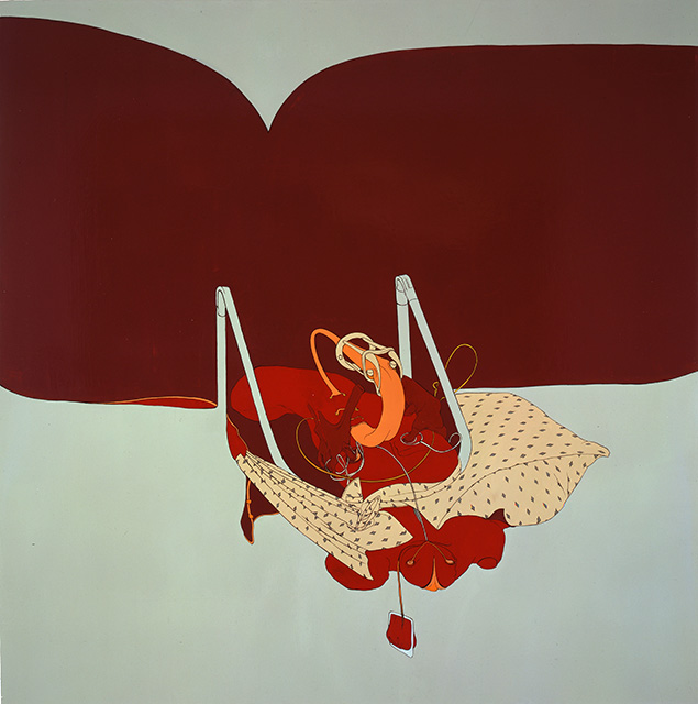 Bloodsucker, 1999, Enamel on canvas, 48 x 48