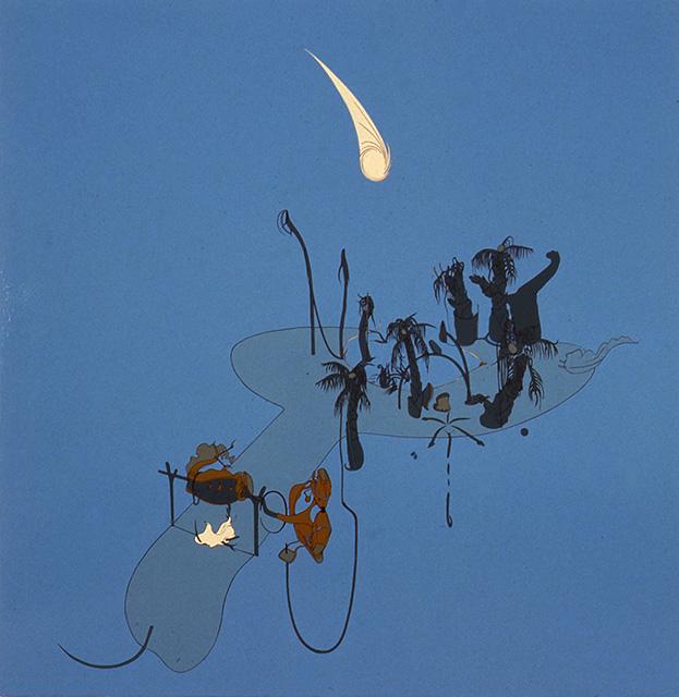 Cosmos, 1998, Enamel on canvas, 76 x 74 inches