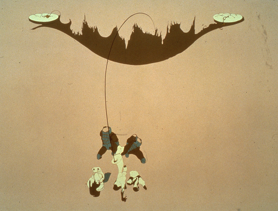 Large Fire, 1998, Enamel on canvas, 72 x 82 inches