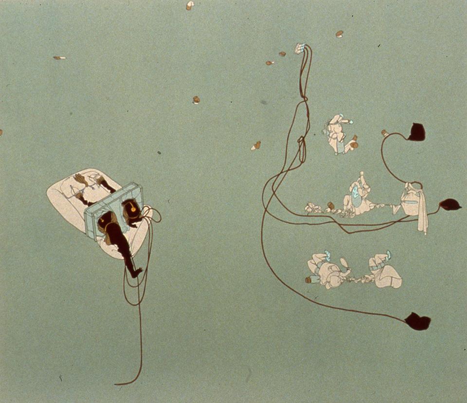 Panacea, 1998, Enamel on canvas, 72 x 83 inches