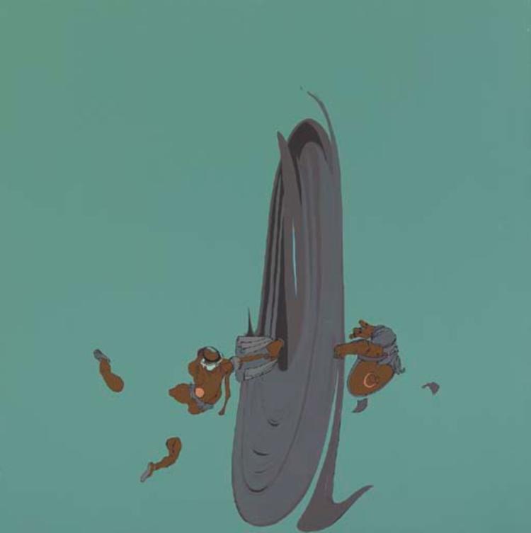 Hurricane Mary, 1998, Enamel on canvas, 48 x 48 IN