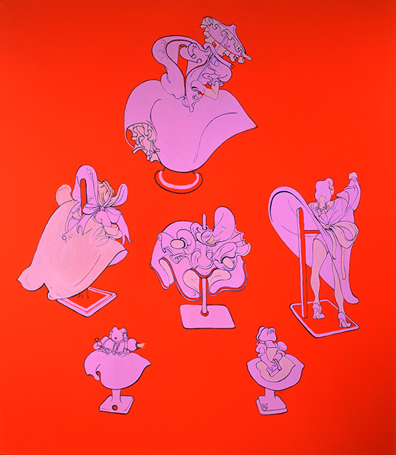 Holly Hobby, 1997, Enamel on canvas, 60 x 54 inches