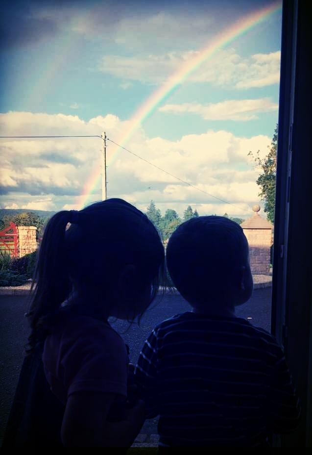 Rainbows come through the clouds so that even in the darkest and dreariest moments we can see a possibility of hope