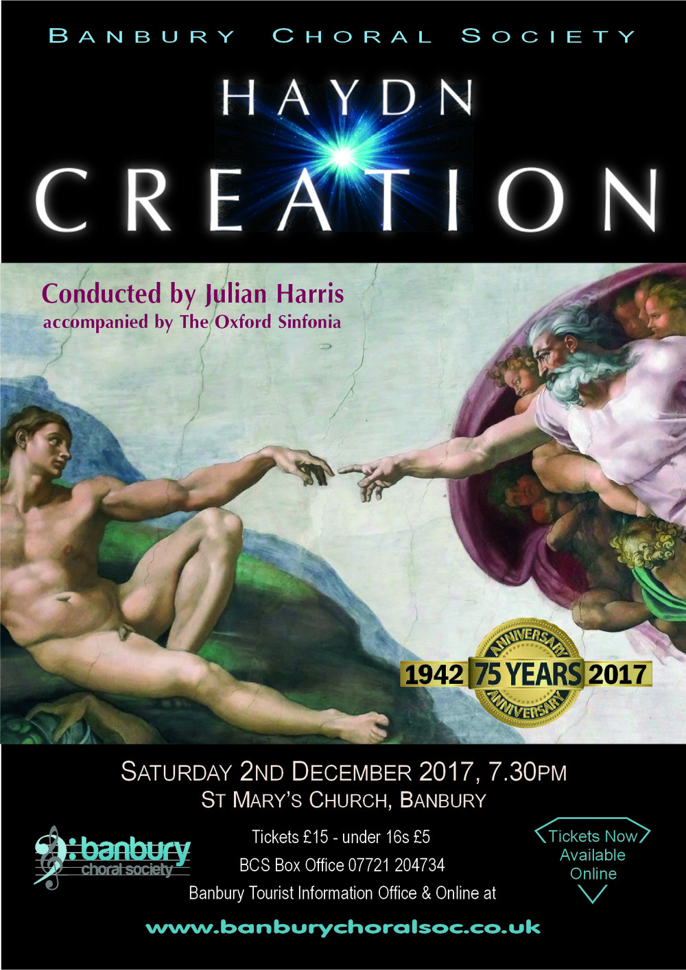 Our next concert, taking place at St Mary's Church, Banbury
