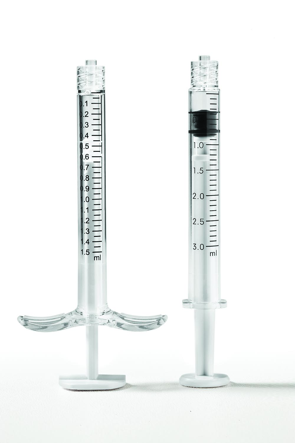 Equinox glass replacement prefillable COC and COP syringes:  1.5ml and 3.0ml