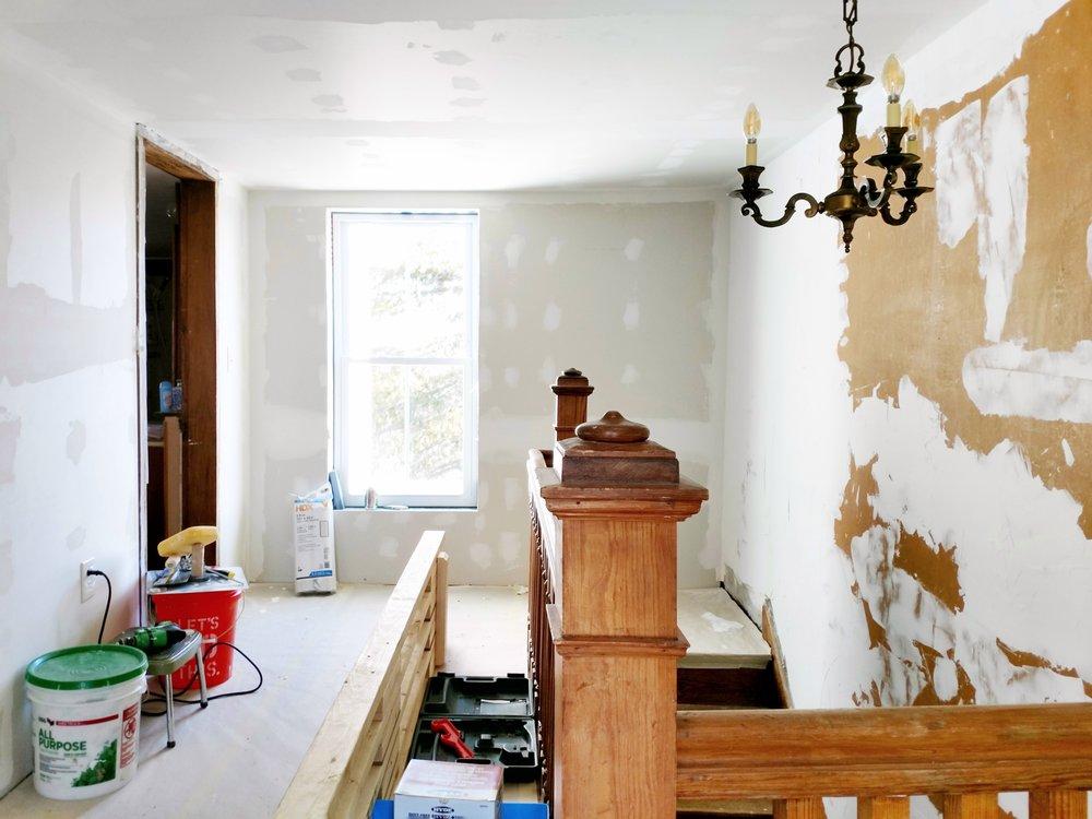 Upstairs Hall Mudding Progress.jpeg