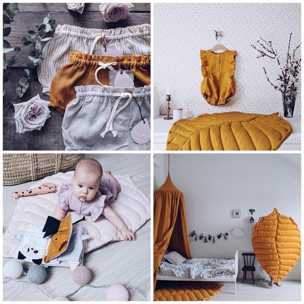 Tulossa pian! OMOLOKO - OMOLOKO valmistaa kauniita lastenvaatteita ja lastentuotteita. Tuotteet valmistetaan luonnonmateriaaleista ja heidän eniten käytetty materiaali on pellavakangas. Kaikki OMOLOKOn tuotteet valmistetaan Ukrainassa käsin.