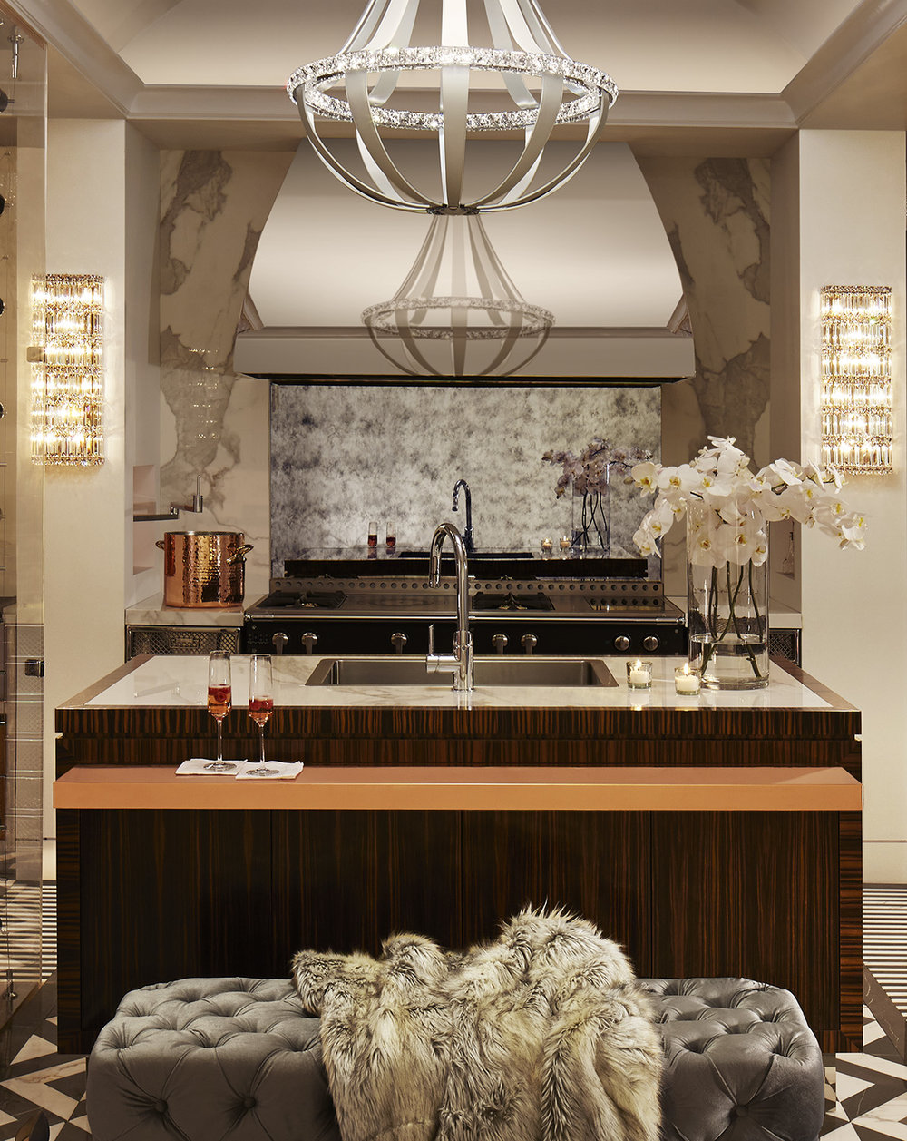 Kitchen Island Steve Marshall - Design Richard Anuszkiewicz for DXV - Photography Earl Kendall - Styling Jim Goulet