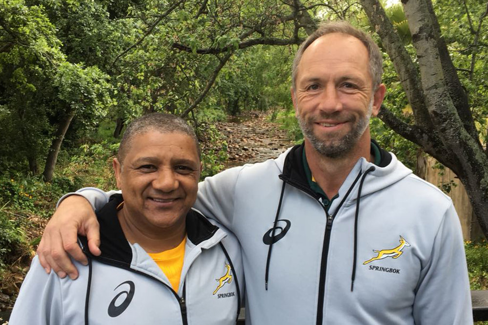 Brendan Venter (right) with   Allister Coetzee