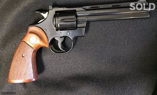 """Colt Python 6"""" Blue 357 Magnum SOLD"""