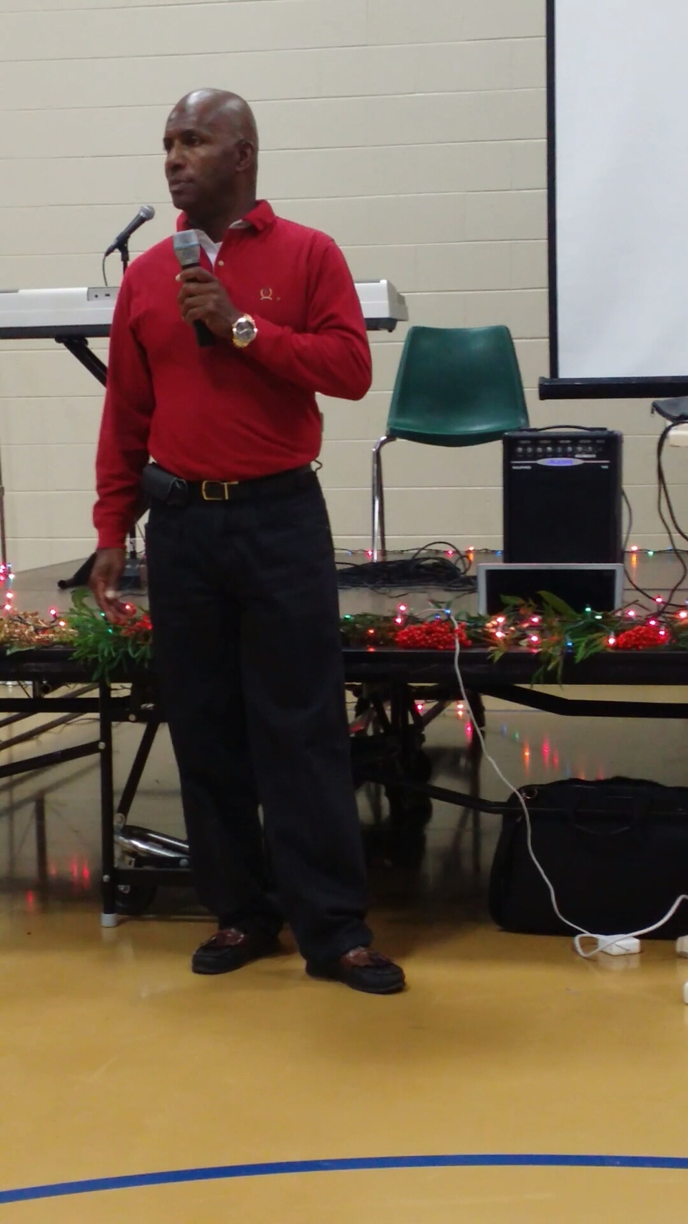 Ricky Privette Speaking at the Life Skills Holiday Party