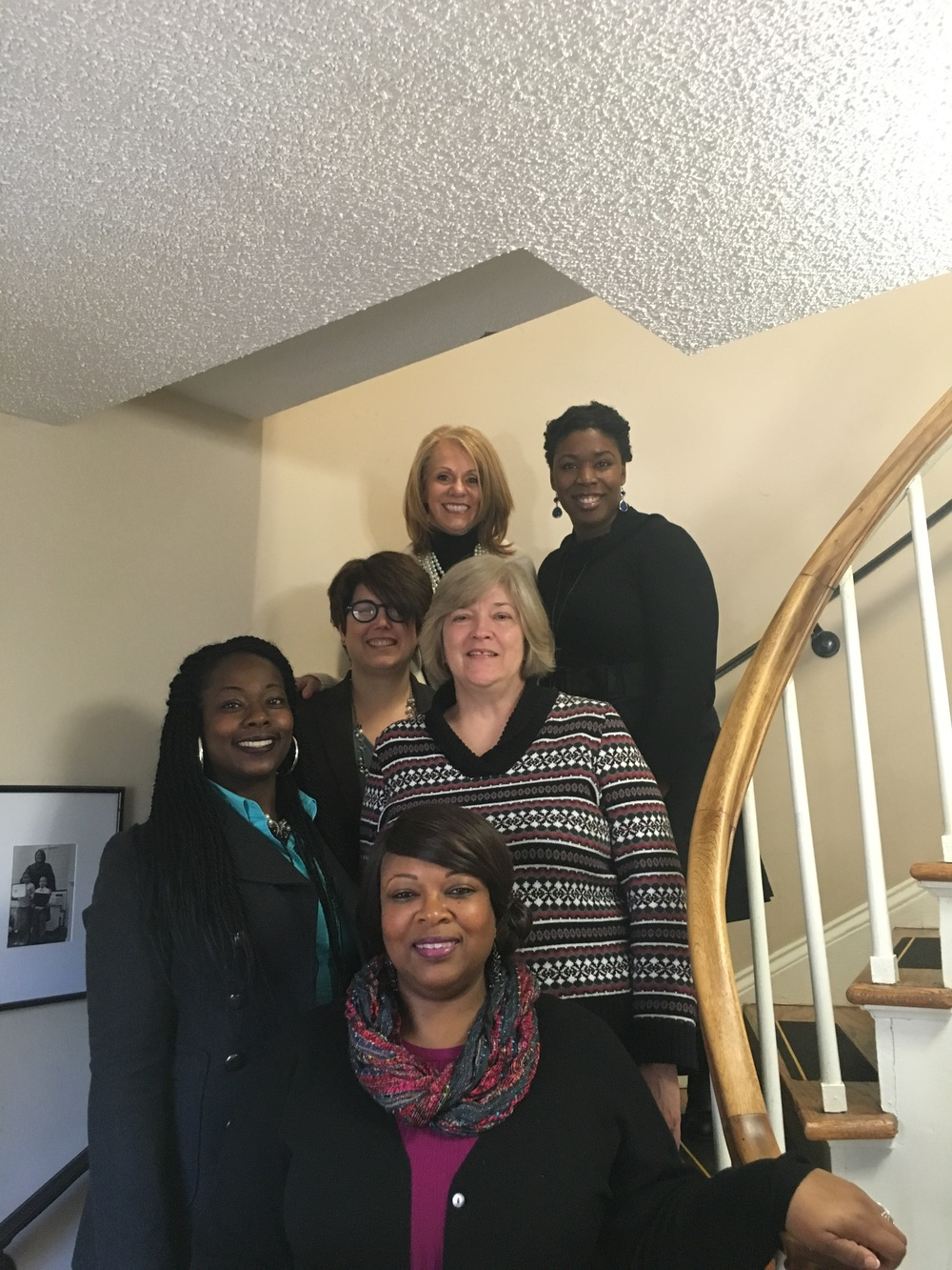 In order from bottom to top: Angela Coleman, Melissa Wilkerson, Mary Roberts, Laura Martin, Linda Nunnallee, Colisha Gilbert.