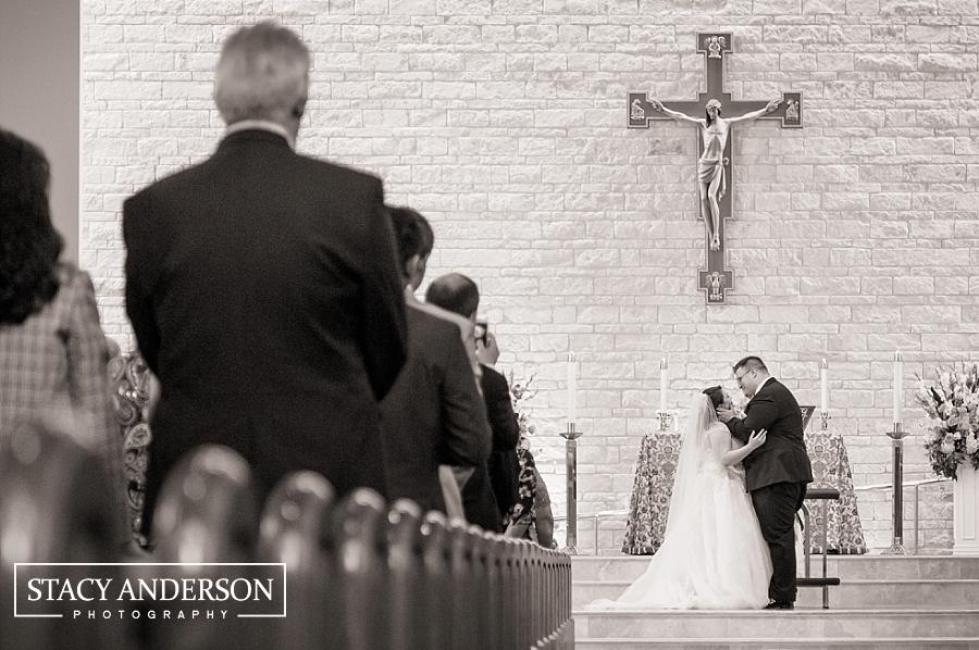 St John Vianney Catholic Church Houston Wedding Photographer (19)