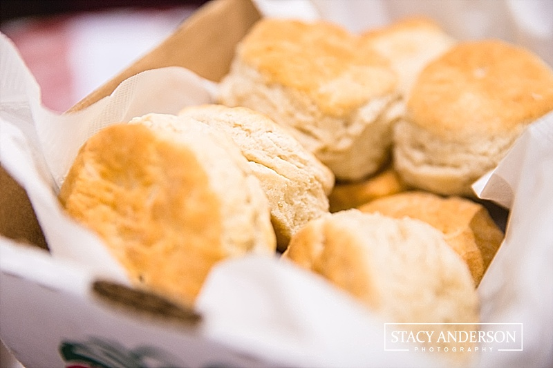 What better way to be greeted than with fresh, hot, homemade biscuits!