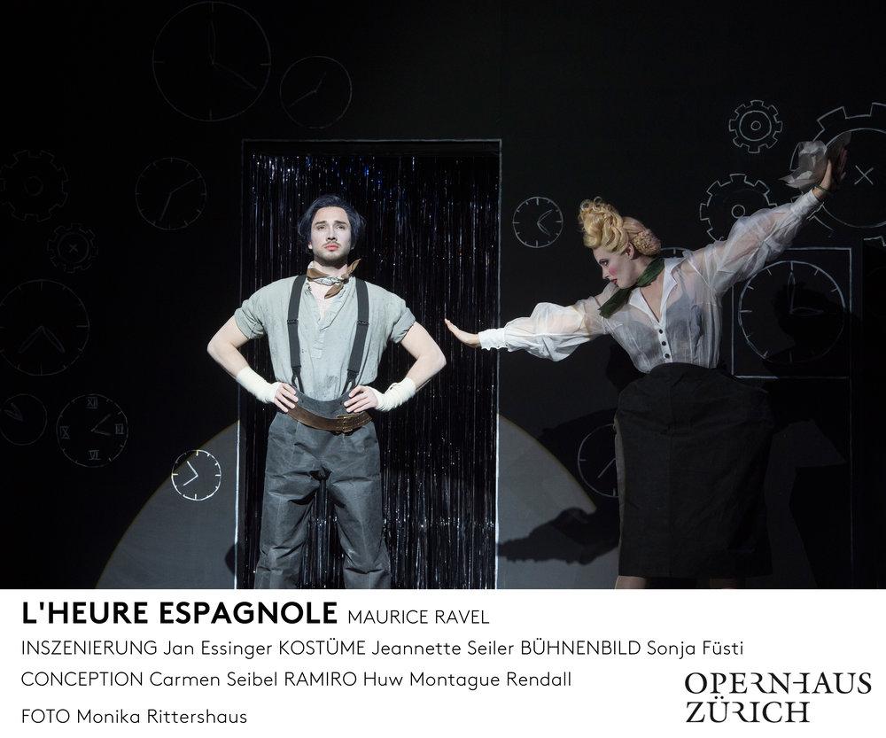 L'Heure Espahgnole  Opernhaus Zürich  ©Monika Rittershau