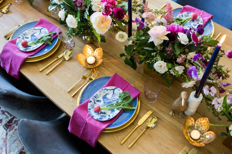 Bold and Dramatic Easter Table - Lindsey Brooke Design - Southern California Interior Designer.