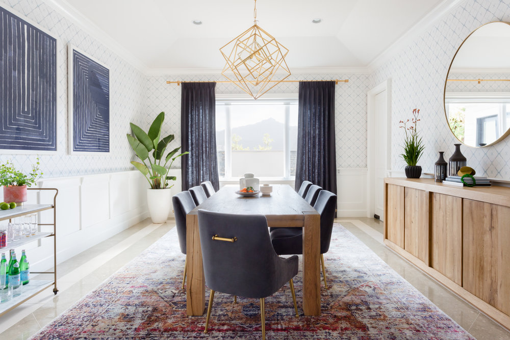 Cozy Mid Century Modern Dining Room | Lake Sherwood Project by Lindsey Brooke Design.jpg