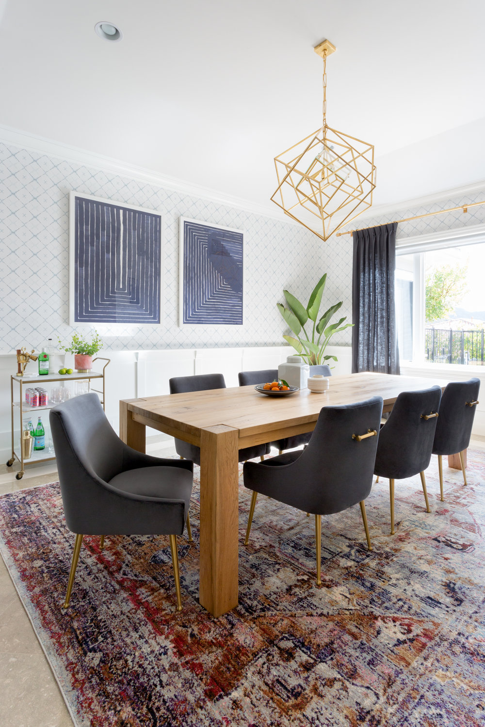 Cozy Mid Century Modern Dining Room | Lake Sherwood Project by Lindsey Brooke Design3.jpg