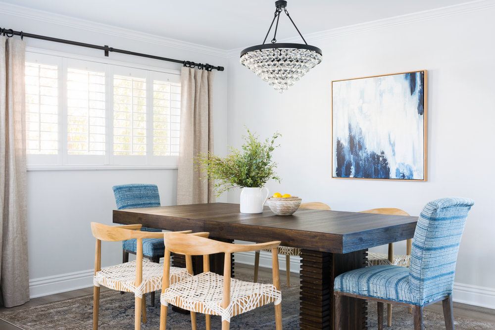 Modern Boho Formal Dining Room Design By Lindsey Brooke Design. Mulholland  Drive Project Part II