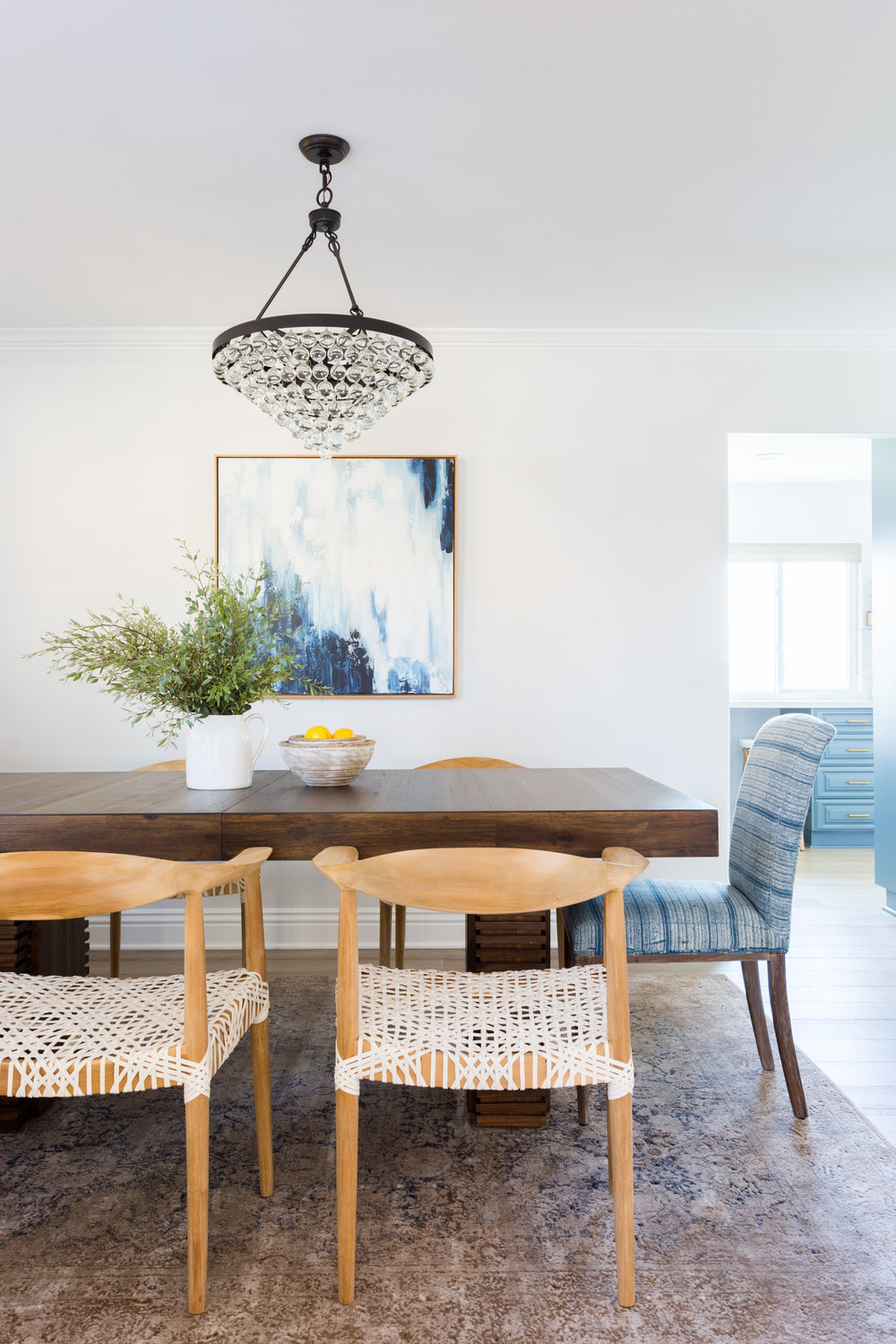 Modern boho formal dining room design by Lindsey Brooke Design. Mulholland Drive Project Part II: Dining Room.jpg