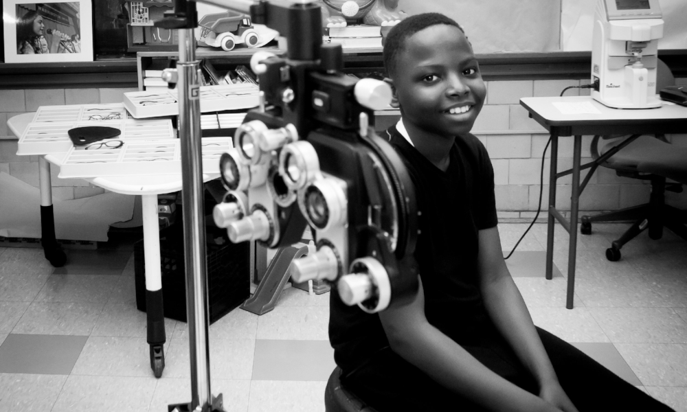 A NEW LENS ON LIFE. - Envision Optometry Boston, in partnership with Boston Public Schools, is providing vision screenings and eye glasses for children in need. Your donation will support the program's commitment to provide free glasses, repair and replacement of the glasses, when needed.