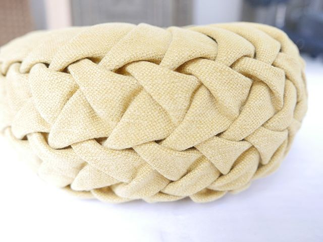 Here's a close up of the detail that goes into each of our hand-made Mommy Pop pillows!
