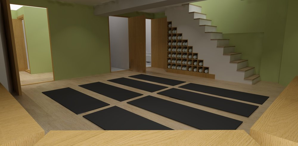 The second yoga studio for focused training and smaller classes (without hot flow).