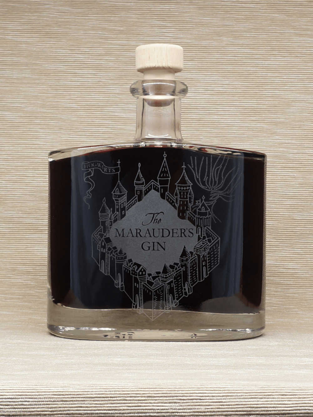 Blackberry whisky in Marauder's Gin bottle