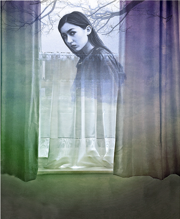 Girl at the Window - Book illustration (mock-up)