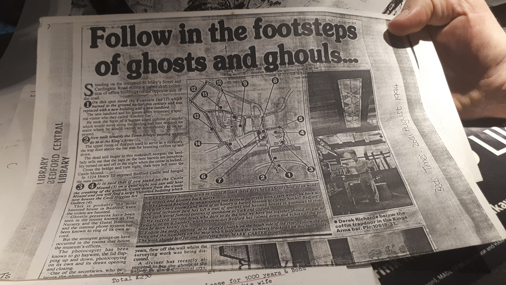 The Bedfordshire Times and Citizen newspaper included the Kings Arms in its 1994 review of haunted Bedford