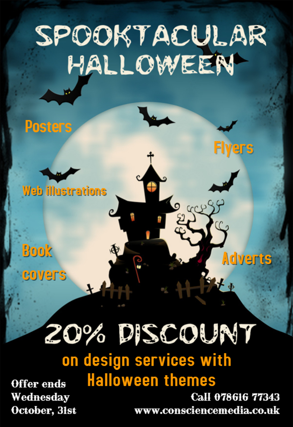 Need to advertise a Halloween event or party? - Check out our special offer on all Halloween themed ads.